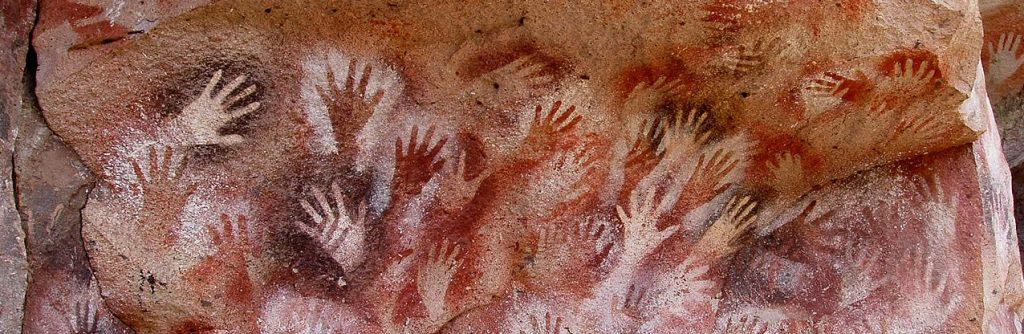 La cave des mains, Argentine (13,000–9,000 BP) CC BY-SA 3.0 - détail