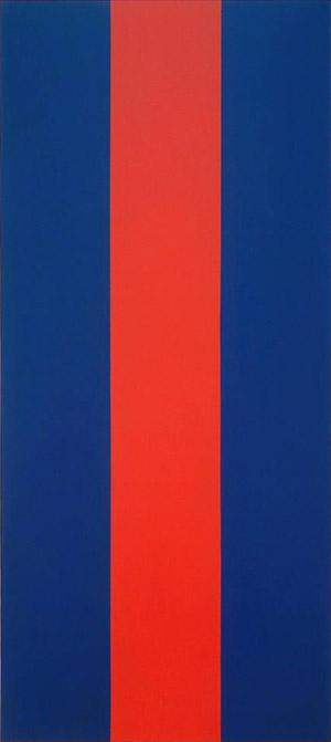 Barnett Newman, Voice of Fire, 1967 540 cm x 240 cm, acrylique sur toile